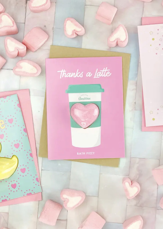Feeling Smitten Thanks a Latte Bath Card