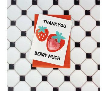 Thank You Berry Much Bath Card