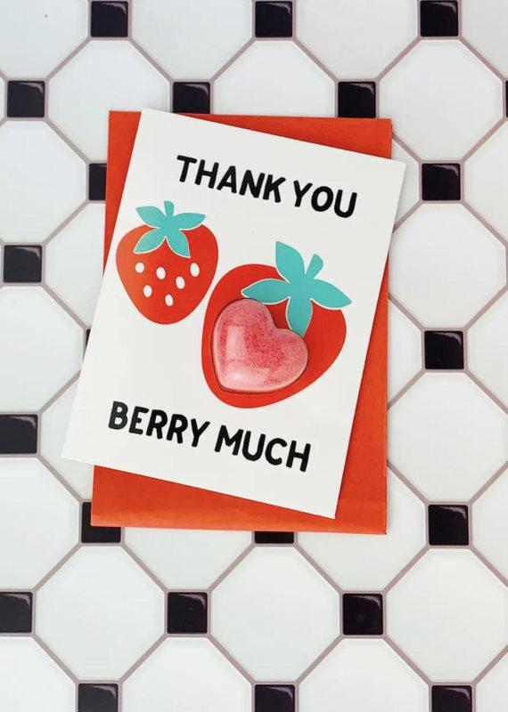 Feeling Smitten Thank You Berry Much Bath Card