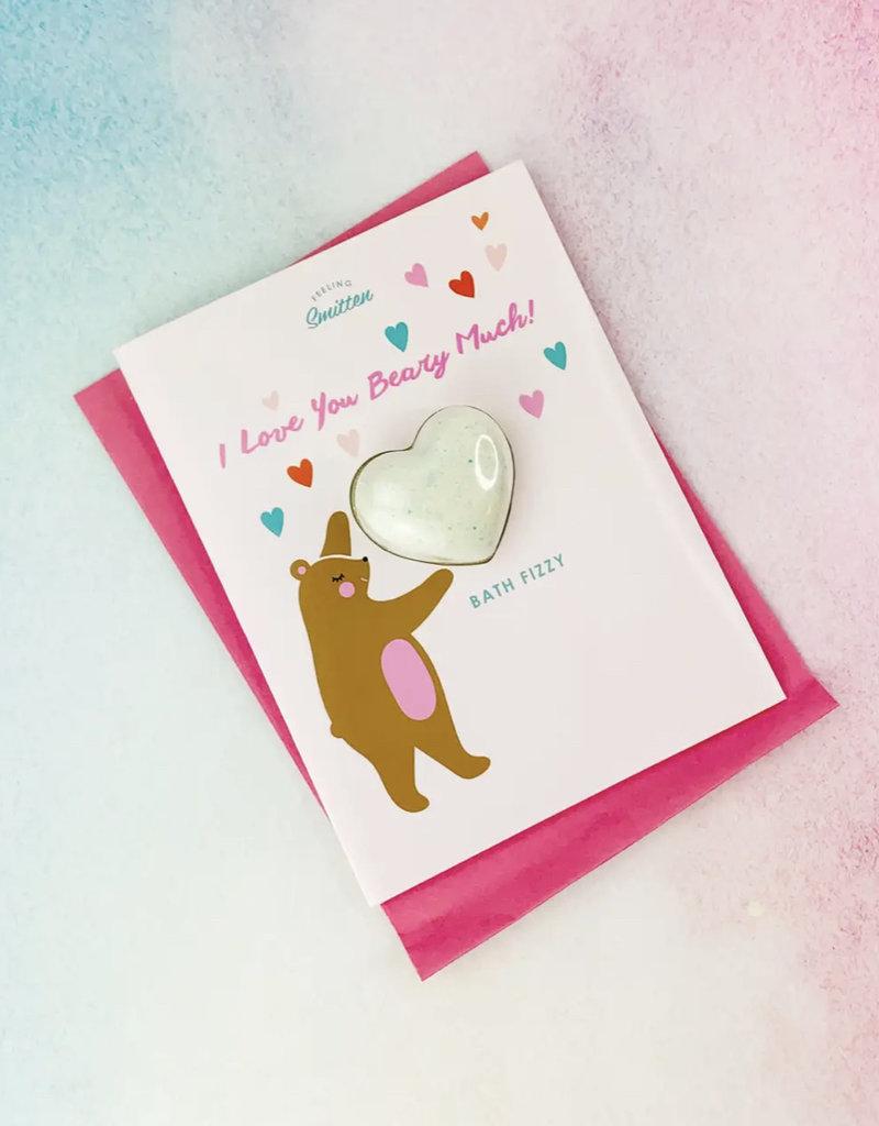 Feeling Smitten I Love You Beary Bath Card