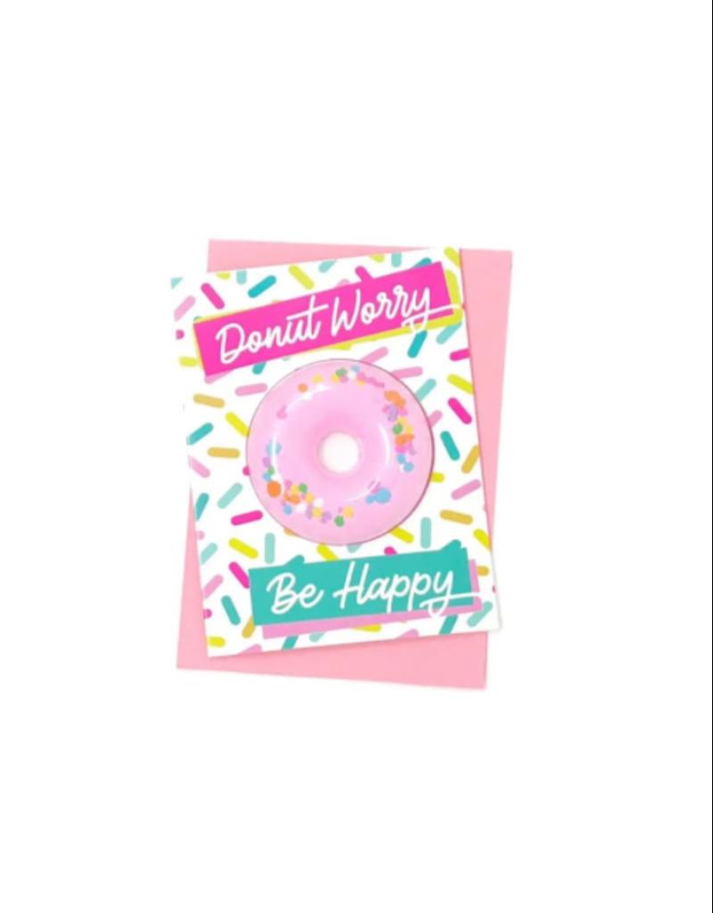Feeling Smitten Donut Worry Bath Card