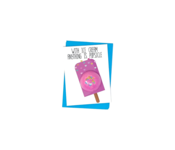 Anything is Possible Bath Card
