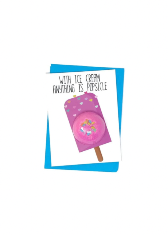 Feeling Smitten Anything is Possible Bath Card
