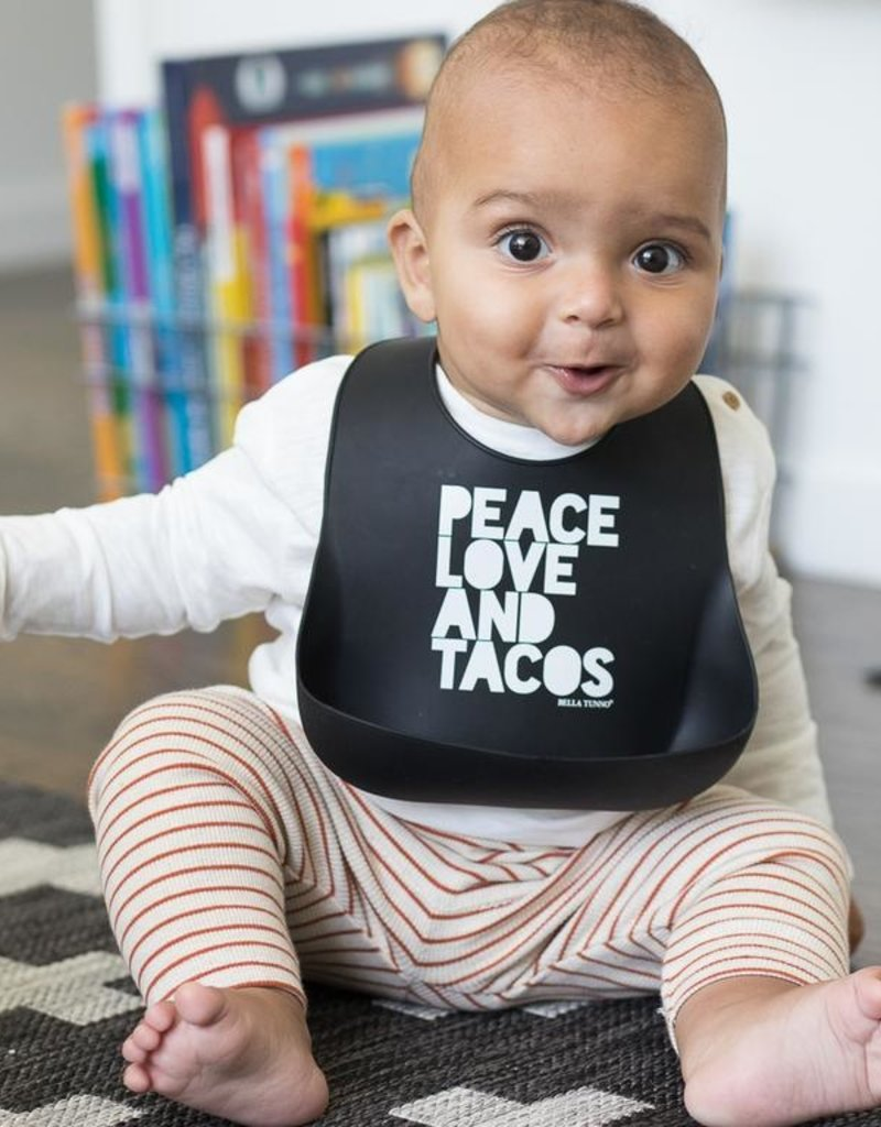 Bella Tunno Peace Love Tacos Wonder Bib