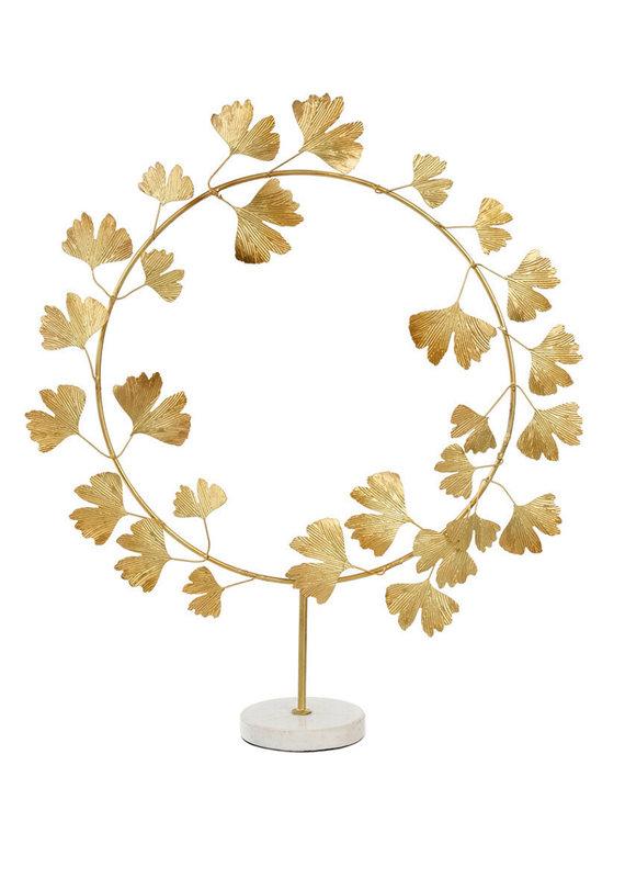 Indaba Trading Co. Ginko Wreath on Stand