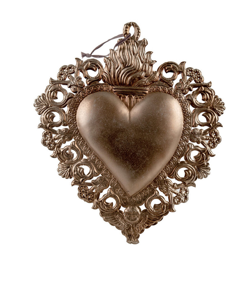 "Indaba Trading Co. Milagro Heart Ornament M 6""x8"""