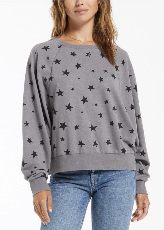 Z Supply Marella Star Pullover, Charcoal