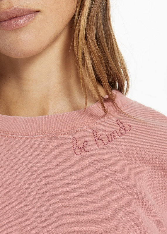 Zsupply Lia Washed Pullover, Dusty Rose
