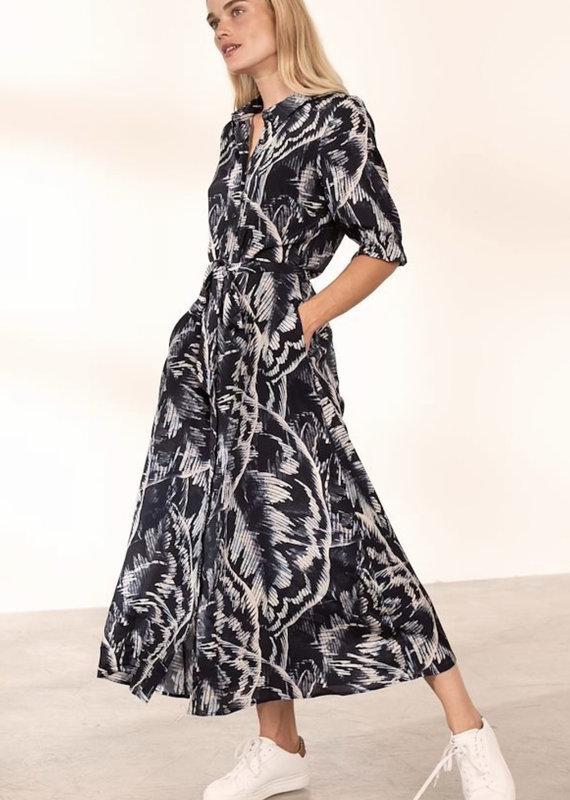 Kaffe Valentina Maxi Dress, Big Leaf Print