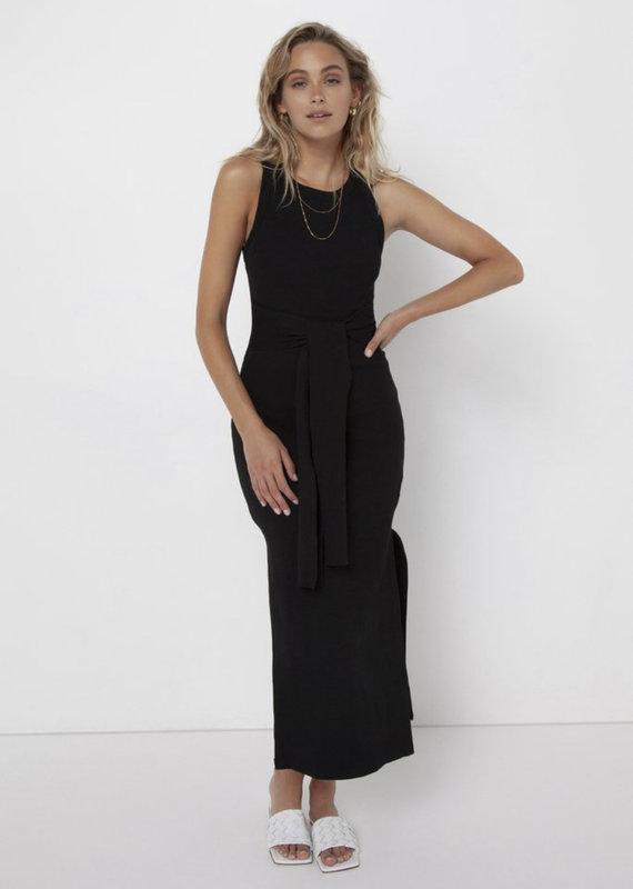 Madison The Label Ange Midi Dress Black