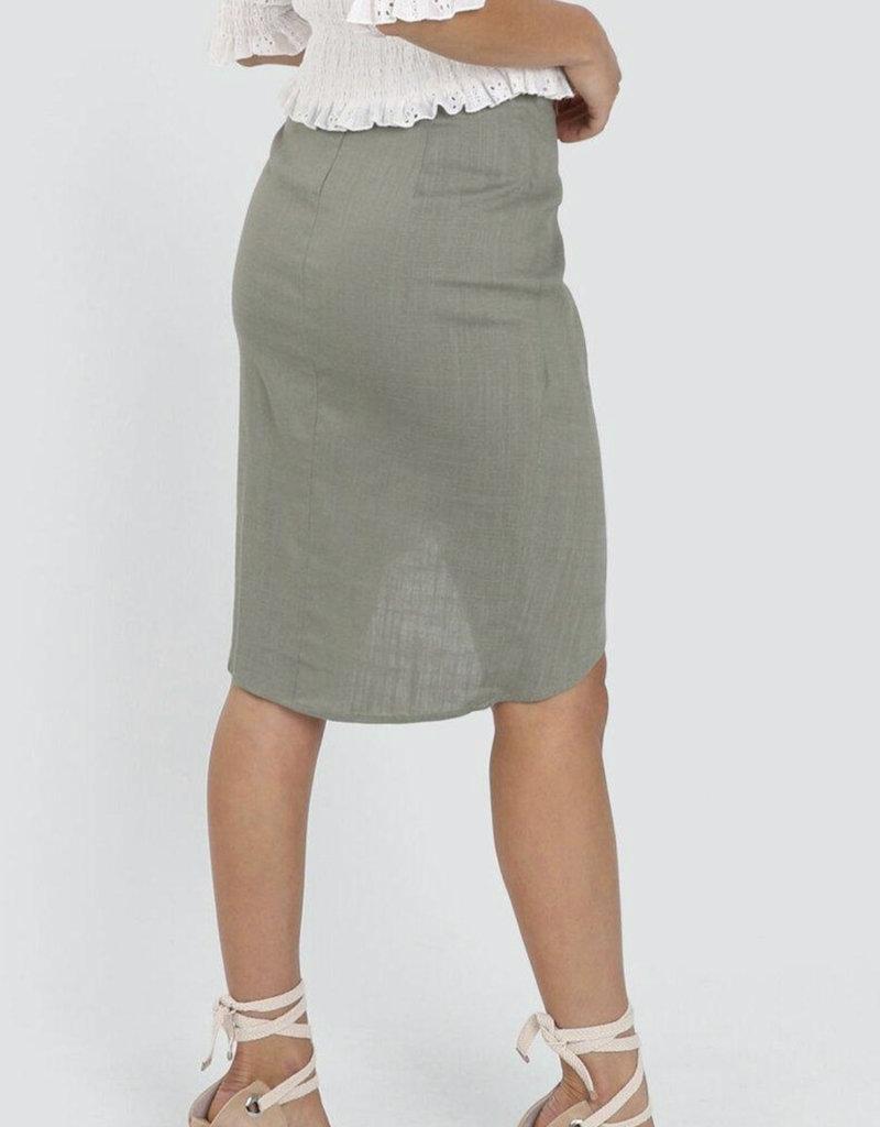 Lost in Lunar Siren Skirt Khaki