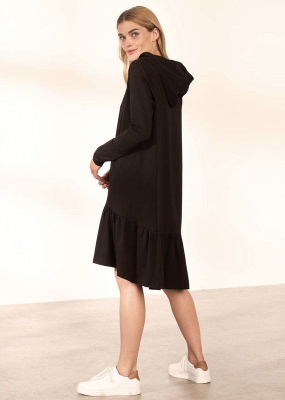 Kaffe Dana Hoodie Dress, Black