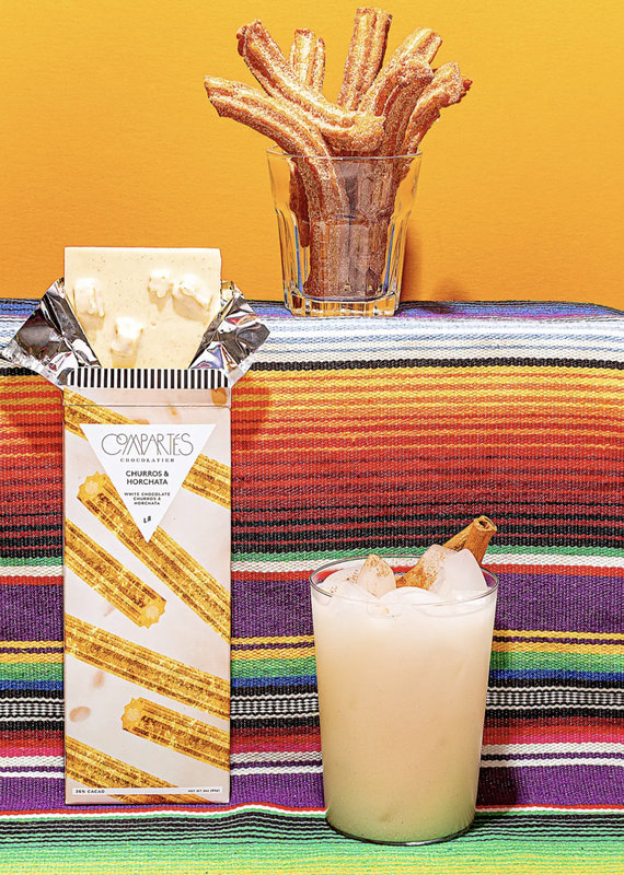 Compartes Chocolates Churros and Horchata Chocolate Bar