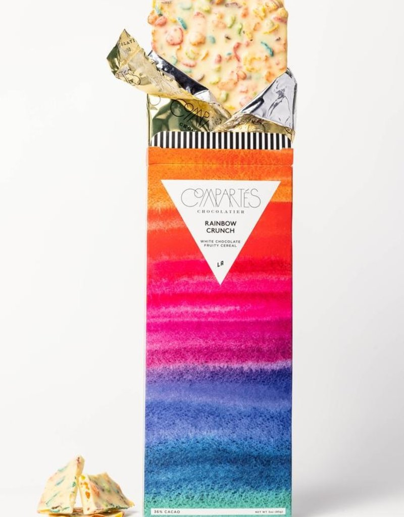 Compartes Chocolates Rainbow Crunch Cereal Chocolate Bar