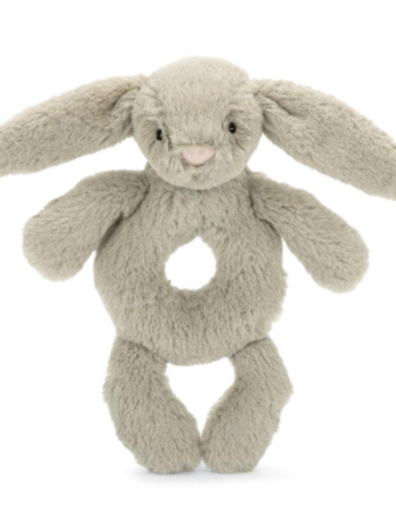 """Jellycat Inc. Bashful Beige Bunny Ring Rattle 7"""""""