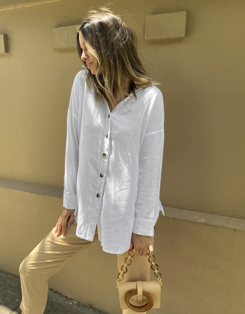 Lost in Lunar Delilah Shirt White