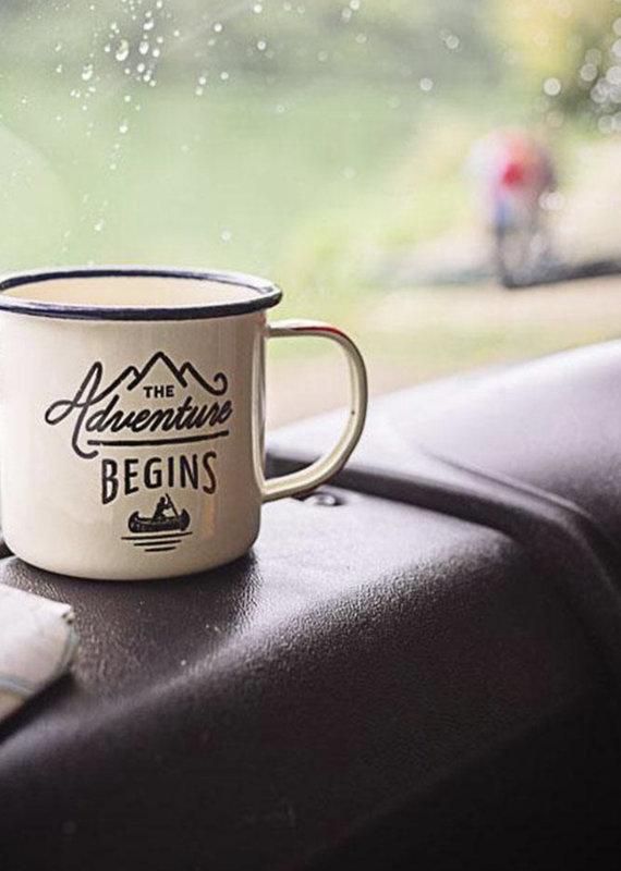 Gentleman's Hardware Enamel Mug - Let the Adventure Begin