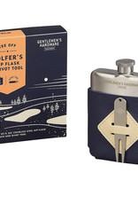 Wild & Wolf Golfer's Hip Flask & Divot Set