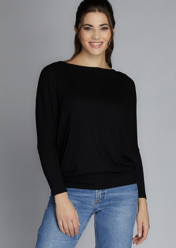 Cest Moi Soft Knit Top, Black