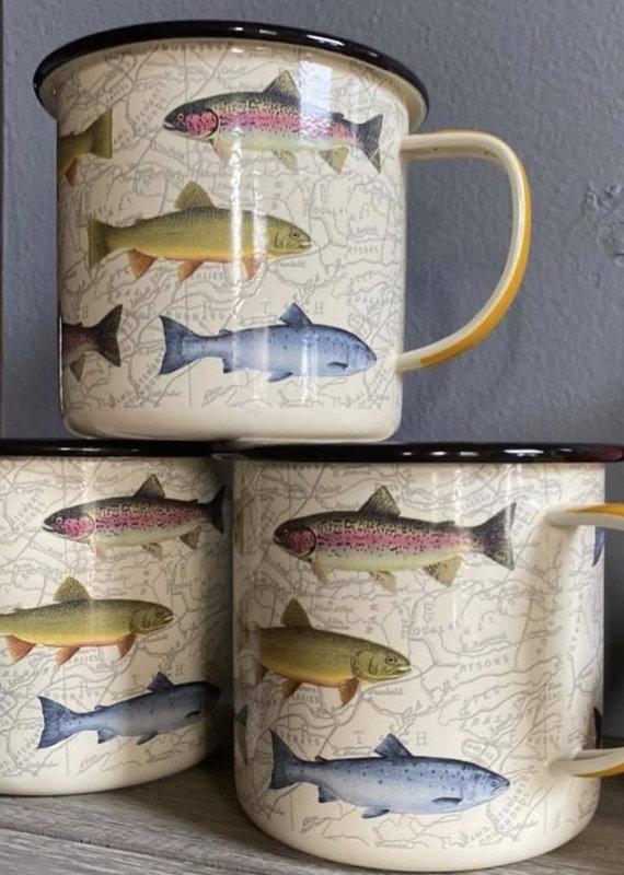 Wild & Wolf Enamel Mug - Fish