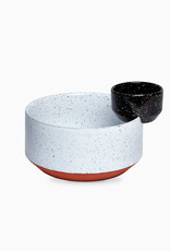 DOIY Design Eclipse Big Black and White Bowls