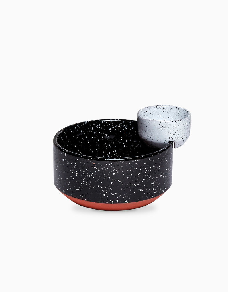 DOIY Design Eclipse Small Black and White Bowls
