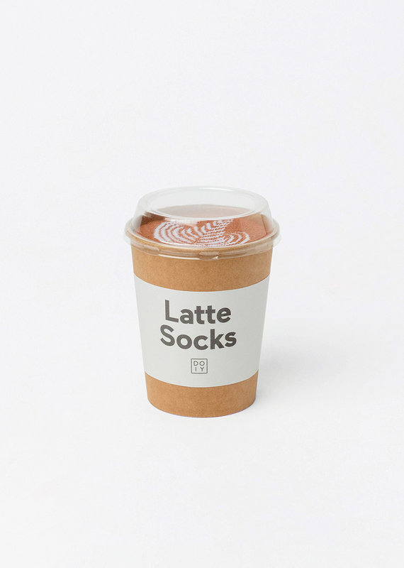 DOIY Design Latte Socks, Caffe