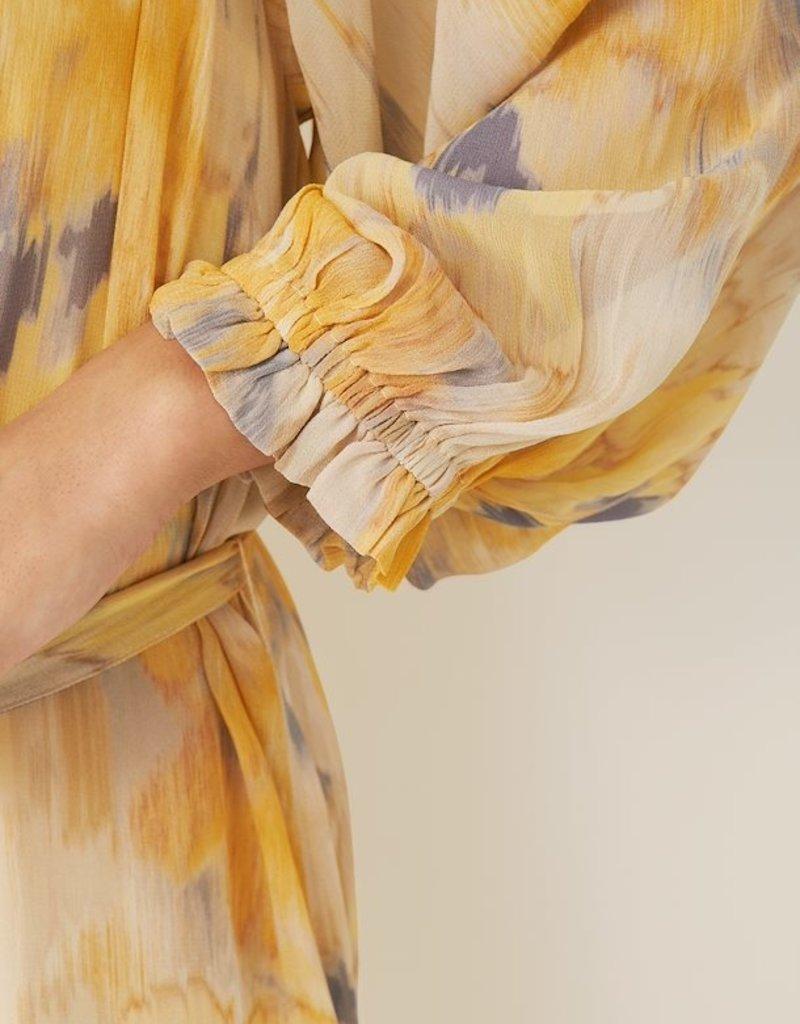 Part Two Hoang Dress, Water Ikat Sahara Sun