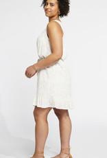Gentle Fawn Pixel Dress, White Leaf