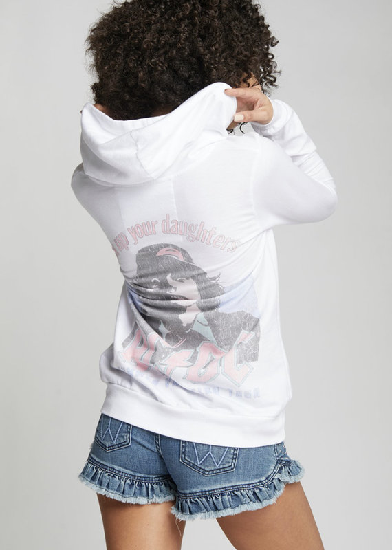 Recycled Karma AC/DC Summer Vacation Tour Hoodie, White