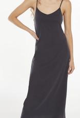 Z Supply Rayne Organic Slip Dress, Washed Black