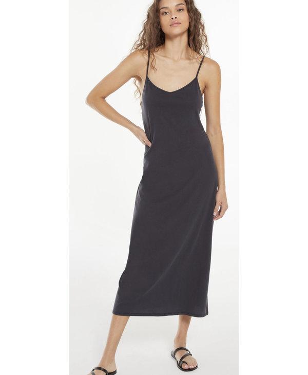 Rayne Organic Slip Dress, Washed Black