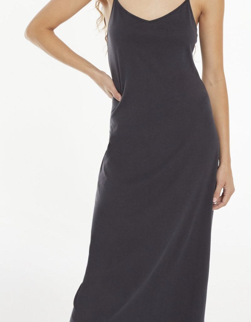Zsupply Rayne Organic Slip Dress, Washed Black