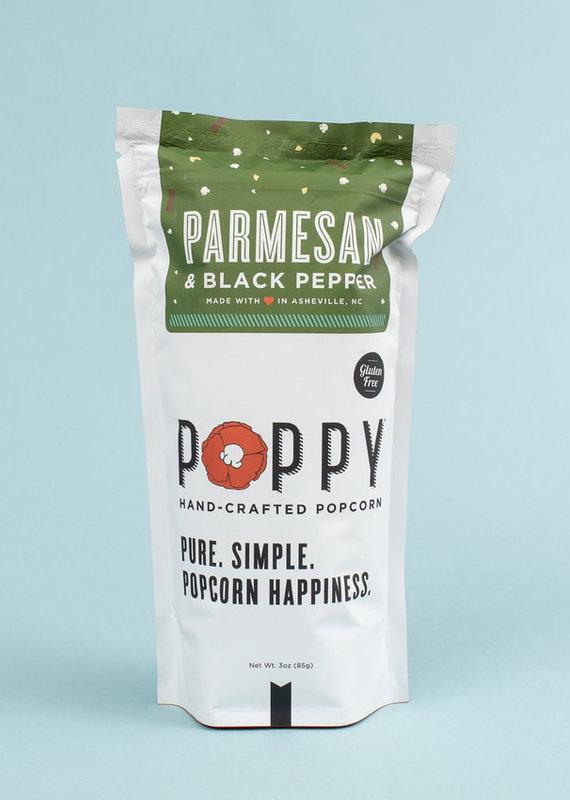 Poppy Handcrafted Popcorn Parmesan & Black Pepper Market Bag