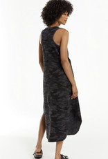 Zsupply The Camo Reverie Dress, Charcoal