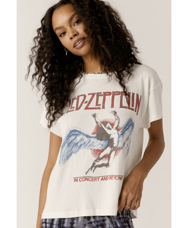 Led Zeppelin in Concert and Beyond Tour Tee , Vintage Wht