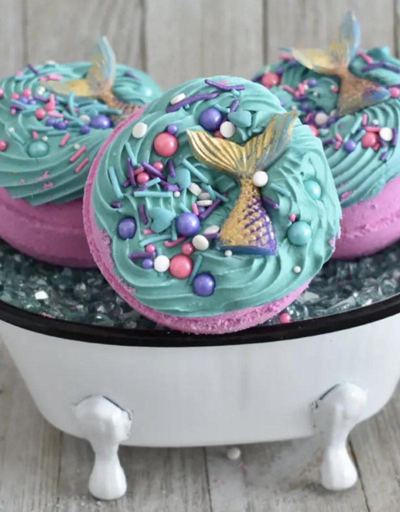 Indulgence Bath Bakery Mermaid Kisses Donut Bath Bomb/Bubble Bar
