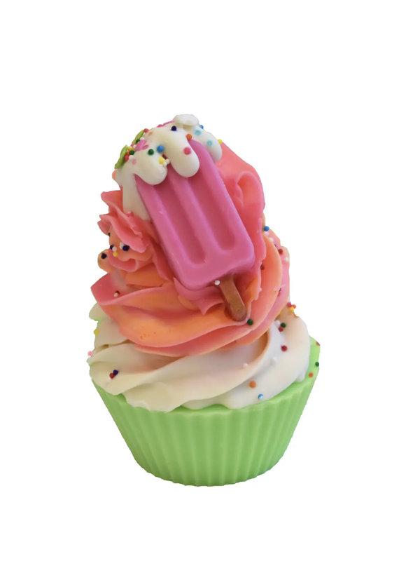 Indulgence Bath Bakery Rainbow Sherbet Artisan Soap Cupcake