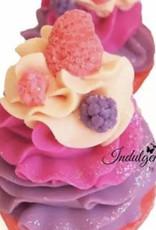 Indulgence Bath Bakery Black Raspberry Vanilla Soap Cupcake