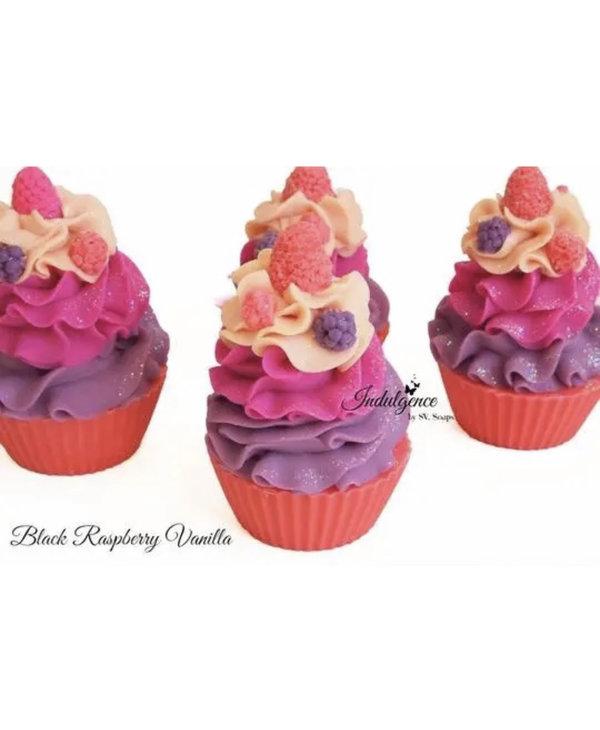 Black Raspberry Vanilla Soap Cupcake