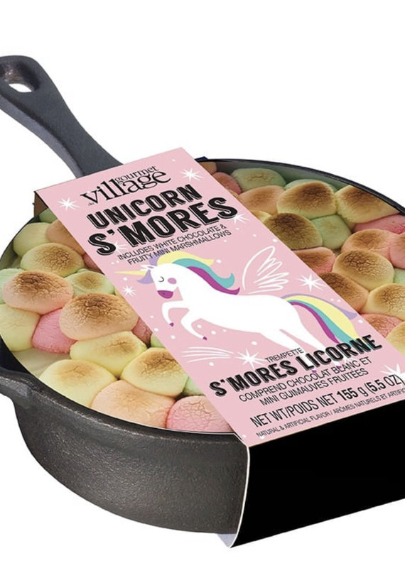 GOURMET VILLAGE Unicorn S'Mores Dip Kit & Cast Iron Skillet
