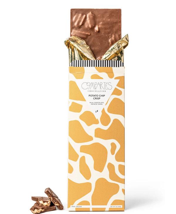 Potato Chip Crisp Milk Chocolate Bar