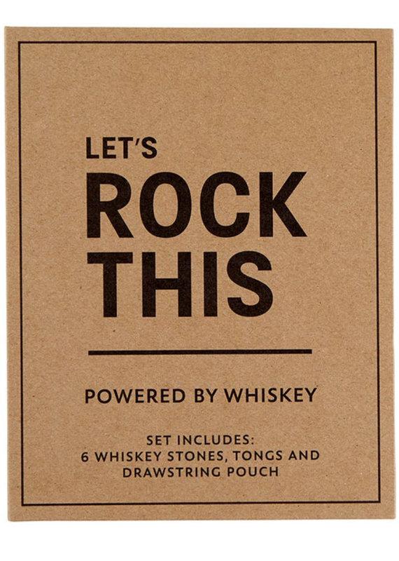 C.R Gibson Whiskey Stones Book Set