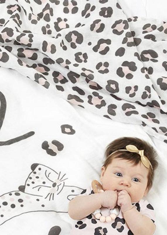 Stephan Baby Swaddle Blanket - Cheetah