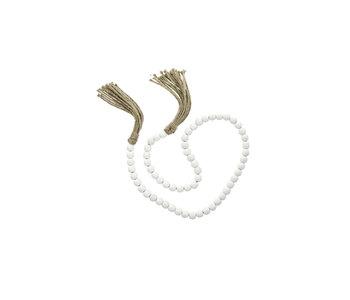 Tassel Prayer Beads, White