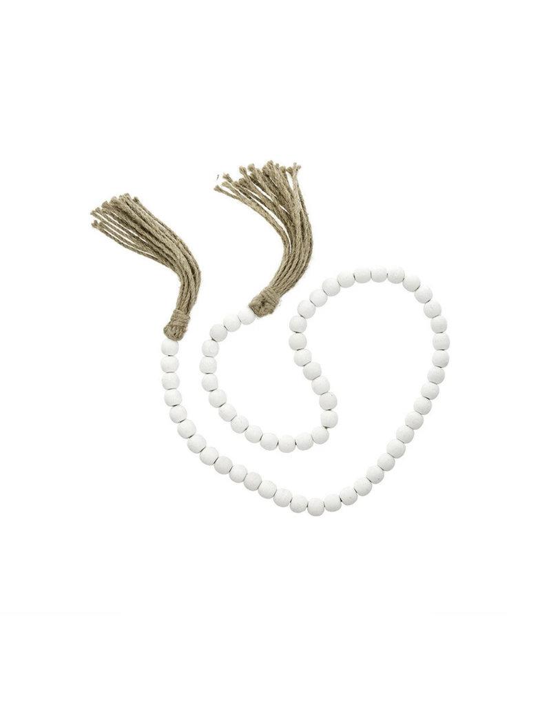 Indaba Trading Co. Tassel Prayer Beads, White