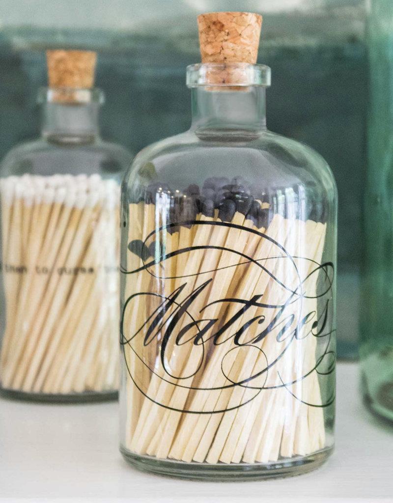 Skeem Design Apothecary Calligraphy Match Bottles, Lrg
