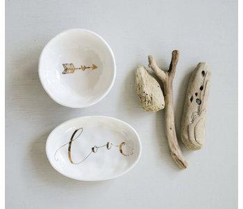 Love Electroplating Ceramic Dish