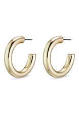 Pilgrim Maddie Small Hoops, Gold Plated