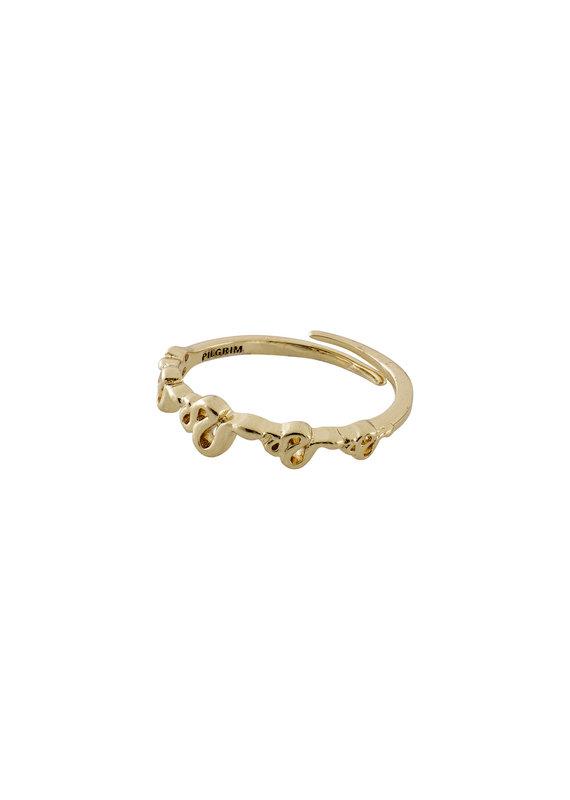 Pilgrim Blaze Ring, Gold Plated